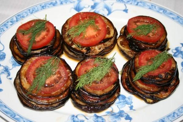 Рецепт баклажан помидор чеснок
