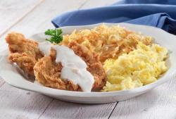 fried-chicken-and-egg-breakfast