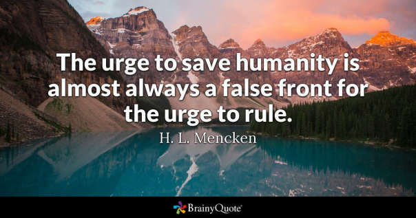 mencken urge to rule