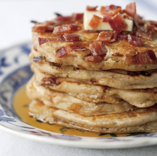 stack with bacon