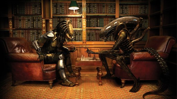 465863-alien-aliens-aliens-vs-predator-game-books-bookshelf-chess-library-predator-predators