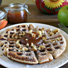 apple fritter waffles