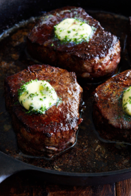 herb butter steak