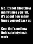 sobriety tests