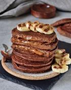caramel chocolate pancakes