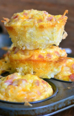 ham egg cheese hash browns muffins