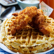waffles with chicken