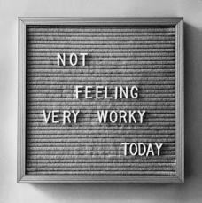not feeling worky