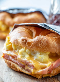 coissant sandwiches