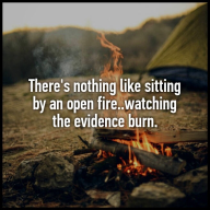 open fire evidence
