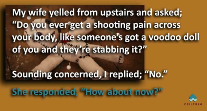 stabbing pain