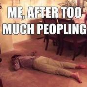 too much peopling