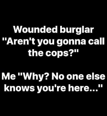 wounded burglar