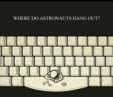 astronauts hang out