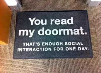 read my doormat